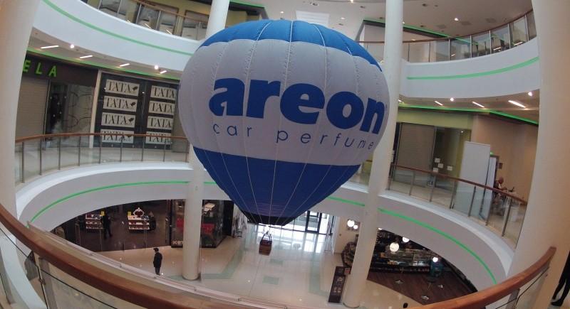 Реклама с балон на АРЕОН в мол Двете Кули